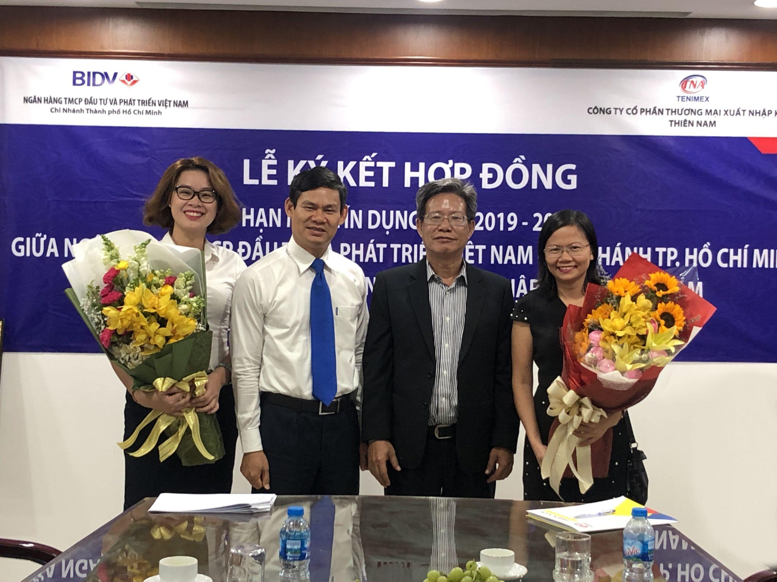 Thiên Nam Và BIDV Chi Nhánh TPHCM Ký Kết Hợp Đồng Hạn Mức Tín Dụng 2019-2020
