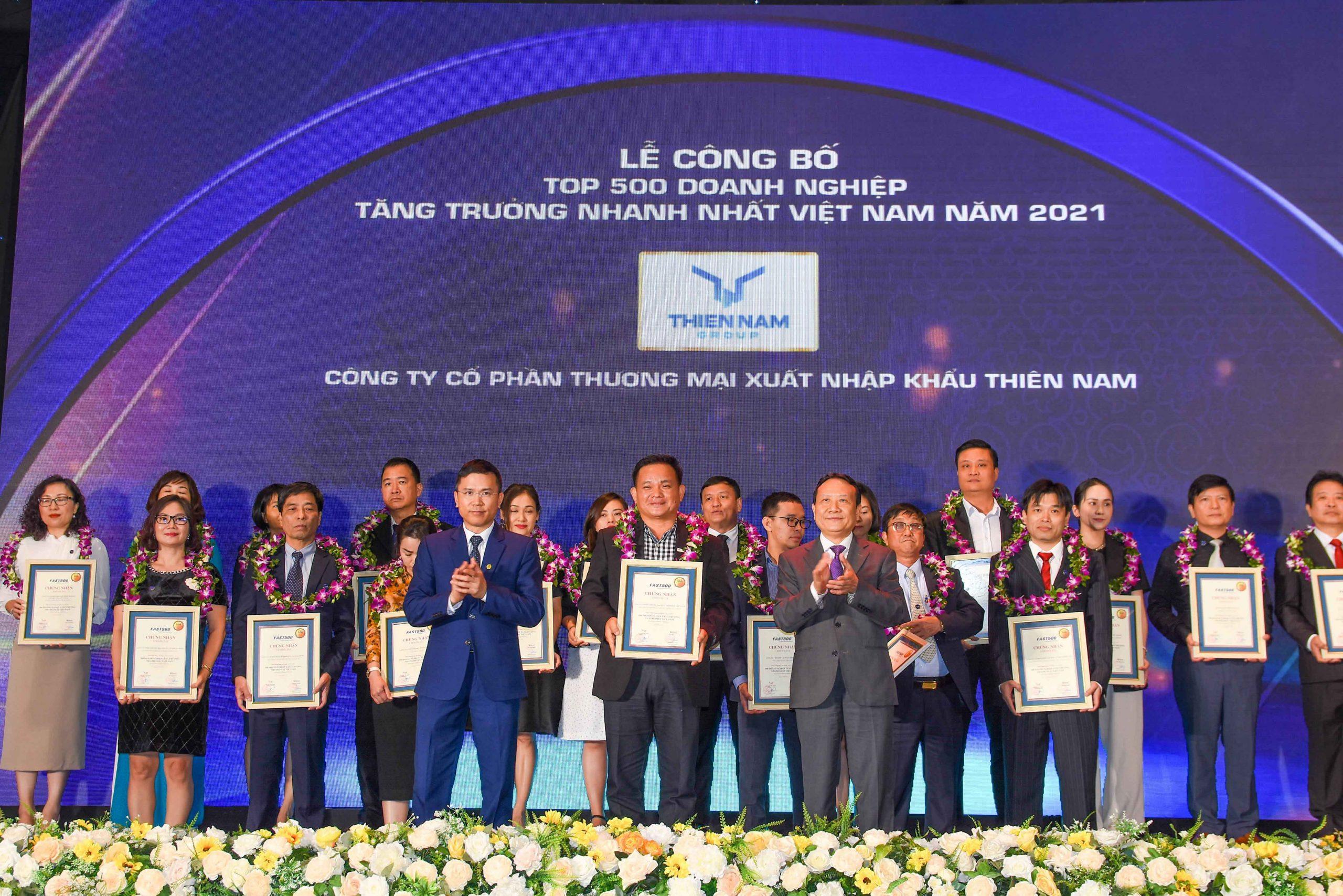 Duy trì tăng trưởng liên tục, Thiên Nam Group nhận giải thưởng FAST500